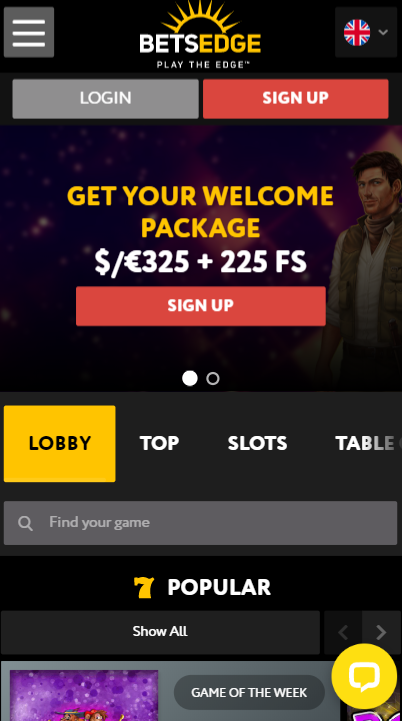 betsedge casino mobil