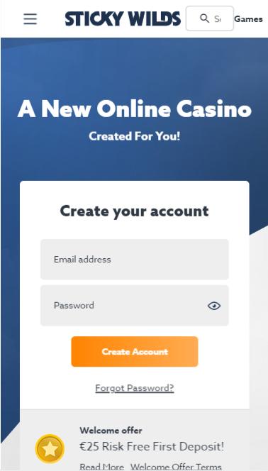 Spela på Sticky Wilds Casino via mobilen